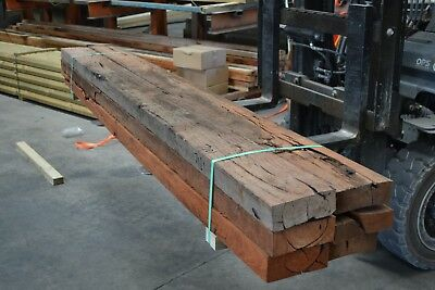 REDGUM SLEEPERS 200x75 x 3.0mt -  6pieces SECONDS - 7101