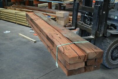 REDGUM SLEEPERS 200x75 x 3.0mt -  6pieces SECONDS - 7102