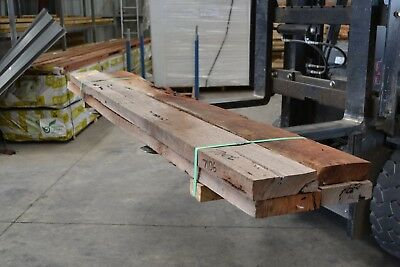 REDGUM SLEEPERS 200x50 x 2.4mt -  4pieces SECONDS - 7106