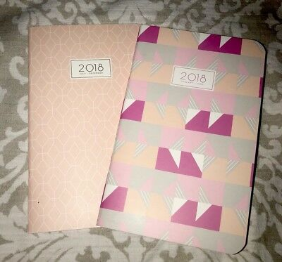 "New May Designs 2 (Two) Travelers Notebook Bundle Blush 5""x8"" 2018 Jan-Dec"