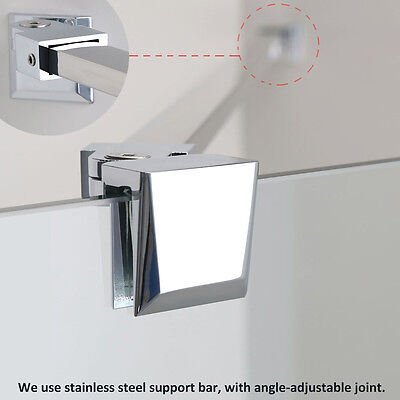 1200mm Shower Screen Stainless Steel Support Bar Glass Panel Fixation