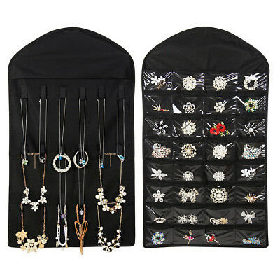 Hanging Jewelry Organizer With 32 Pockets 18 Hook Non-woven Fabric convenient