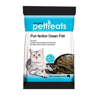 Purr-fection Dried Australian Ocean Fish Treats for Cats - Sustainable & Natural