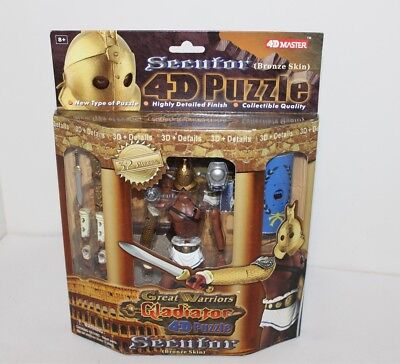 Great Warriors Gladiator 4D Puzzle Secutor Action Figure Brand New