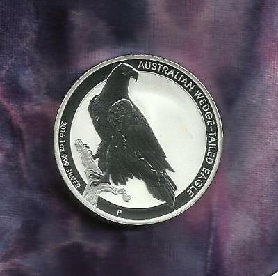 1 Oz Silver Coin 999 - Wedge-Tail Eagle 2016 - Look At Sale