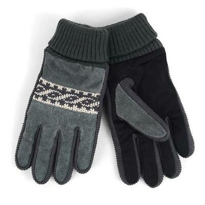 Westend Men's Genuine Leather Non-Slip Grip Winter Gloves with Soft Acrylic