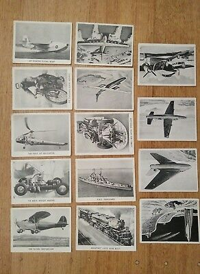 Wonders of the world wonders of the air lot of 14 trading cards 1930s 1940s