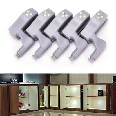 10x LED Smart Sensor Light Kitchen Cabinet Cupboard Closet Wardrobe Hinge Lights