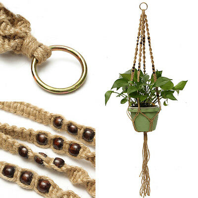 Handmade Macrame Plant Hanger Indoor Outdoor Hanging Planter Basket Jute Rope