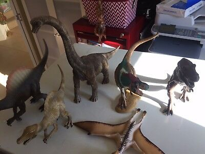 Bulk lot of 6 large Schleich (5),Collecta (1) Dinosaurs - 1:40 scale