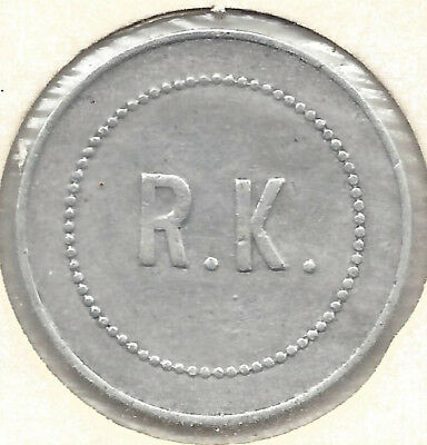 R. K. (Ray Kirby), One Pint Milk, Token by Millers Round Alum
