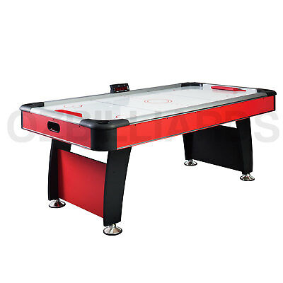7Ft Top Quality Red Modern Design Air Hockey Table + E-Scorer + Blowing Fan
