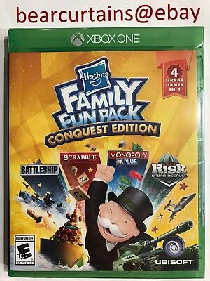 Hasbro Family Fun Pack Conquest Edition XBox One New Factory Sealed w Disc NoTax