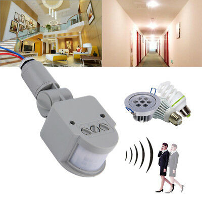 Security PIR Infrared Motion Sensor Detector Wall LED Light Outdoor 12M 180°