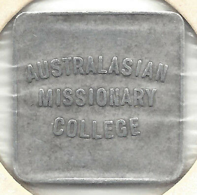 Australian Missionary College One Pint Milk Square Alum Token by Millers