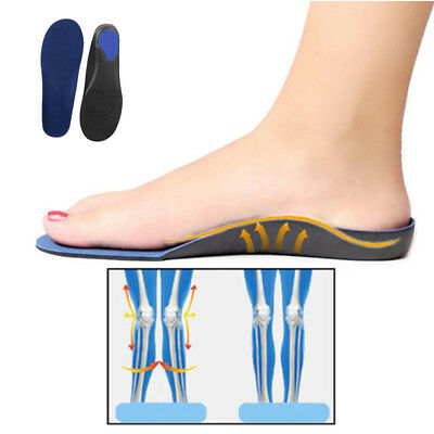 Work Boots Orthotic Foot Arch Heel Support Shoe Massaging Inserts Gel Insoles
