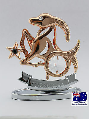 CRYSTOCRAFT Capricorn Zodiac Figurine with SWAROVSKI Crystals