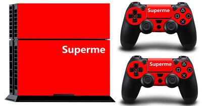 Superme Red DECAL SKIN PROTECTIVE STICKER for SONY PS4 CONSOLE CONTROLLER