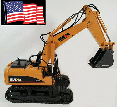 HUINA 1550 1:14 2.4GHz 15CH RC Car Alloy Excavator RTR Boy Kids Adults Toy Truck