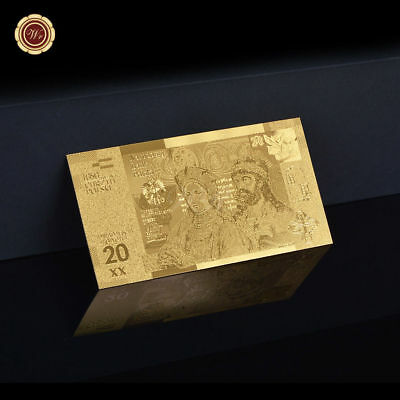 WR Polen 20 zl 2016 Gold Banknote 1050th Anniversary of the Baptism of Poland