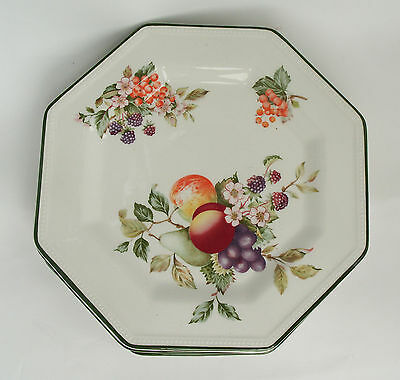 "Fresh Fruits  Salad Plates x 4 - approx 8""  - VGC"