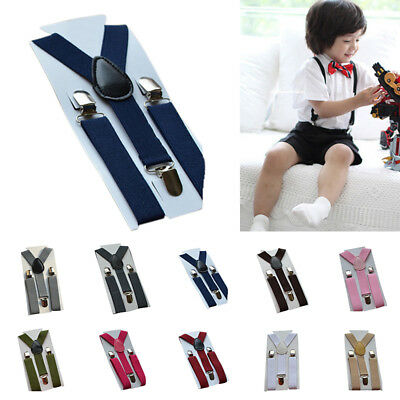 2.5cm Boy Girls Clip-on Elastic Braces Kids Child Baby Suspenders Adjustable Acc