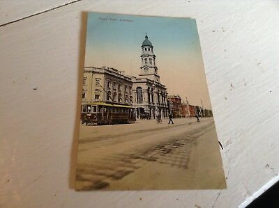 Old Postcard Town Hall Adelaide HMAS psyche