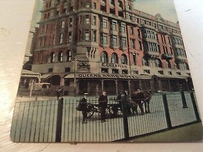 Old Postcard Queens Arms Hotel 1908