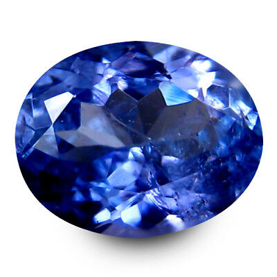 1.34 Ct AAA Remarkable Oval Cut (7 x 6) 100% Natural Bluish Violet Tanzanite