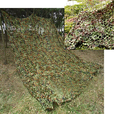 CAMOUFLAGE NET CAMO NETTING WOODLAND STEALTH HUNTING SHOOTING HIDE 13ft x 5ft