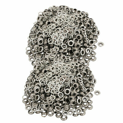 1000pcs 6mm 201 Stainless Steel Eyelet Grommets w Washers for Clothes Leather