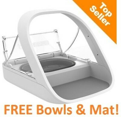 NEW SureFeed Microchip Pet Feeder + FREE Coloured Bowls & Mat. FREE POSTAGE!