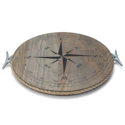NEW JK Adams Ash Lazy Susan with Compass Rose