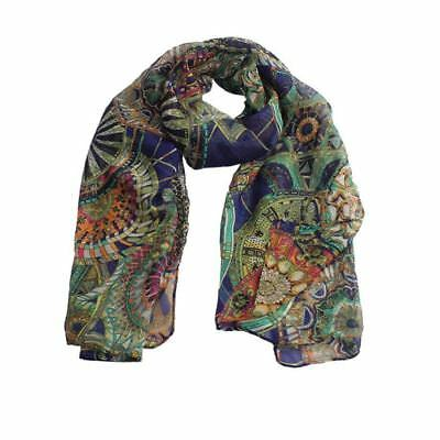 Women Multi color Chiffon Fabric Printed Long Soft Shawl Scarf USA Shipping