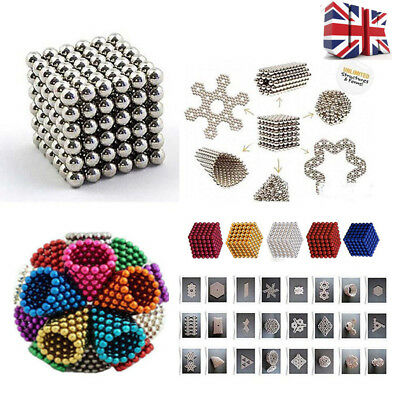 Beads 216 pcs Cube Magnetic Balls 3mm Spacer Kids Child DIY Toys New Adult UK