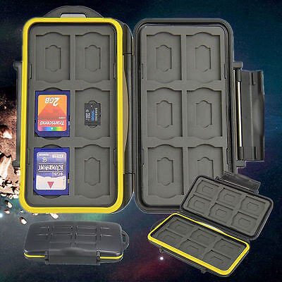 Waterproof LE-48  Secure Digital Memory Card Case Holder Protector for 12SD+12TF