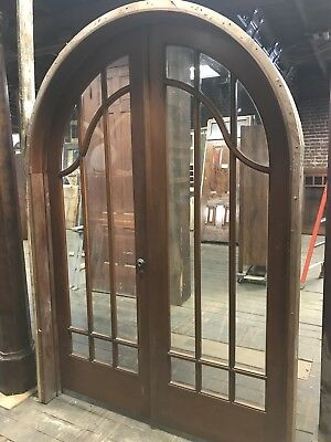 Antique Arched French Door Set. Old French Doors Vintage Doors