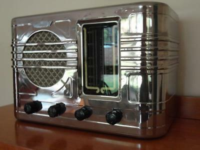 Magnificent ULTIMATE Vintage /  Art Deco /  Machine Age Tube Radio