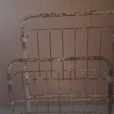 Antique Cast Wrought Iron Bed Vintage Full Size Head and Foot Board Only