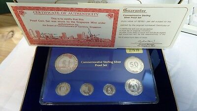 Singapore 1981 Silver Proof Set with Original Packaging & COA