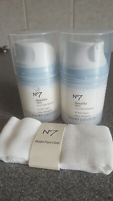 No 7 Hot Cloth Cleanser X 2 - new