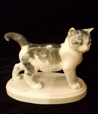 Meissen Porcelain  Cat Figurine
