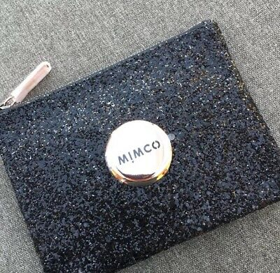 Mimco Black Sparks Fly Rose Gold Medium Pouch Bnwt