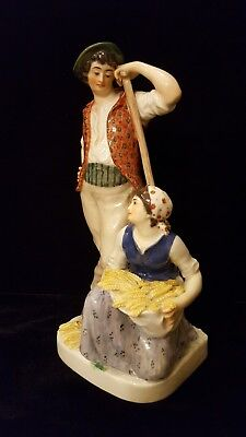 Meissen Porcelain Young man and Woman at Harvest figurine