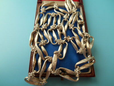 VINTAGE SOLID SILVER FULLY HALLMARKED HEAVY LADYS 30ins CHAIN NOT SCRAP 105.5gm