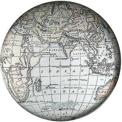 Shudehill White Cartography Paperweight Glass Dome Paperweight 46122A
