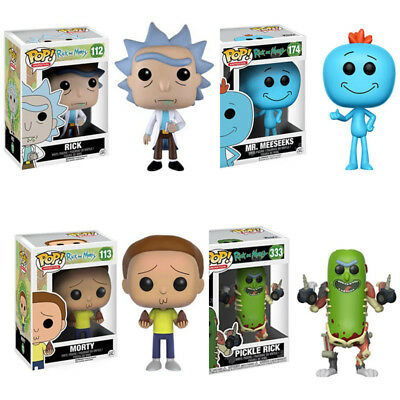 Funko Pop Rick and Morty Mr.Meeseeks PVC Action Figure Collectible Toy With Box