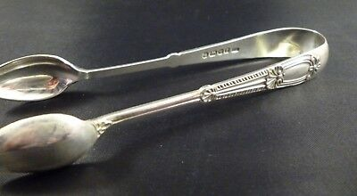 Antique Solid Silver Decorative Sugar Tongs, Sheffield 1889