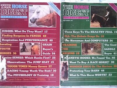 The  Horse  Digest  1982   2  Issues