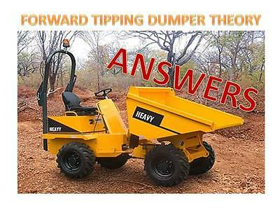 CPCS A09 Forward Tipping Dumper Theory Test Style Answers 2017 Update Mock Exam